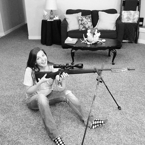 Lindsey with her new gun