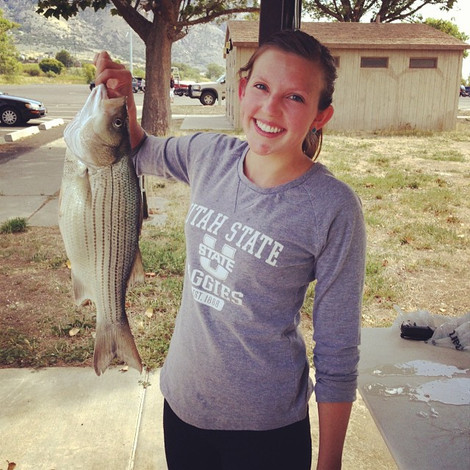 One big fish! The biggest one Lindsey has caught.