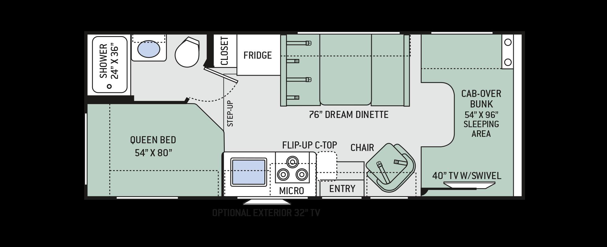 23W Floor plan