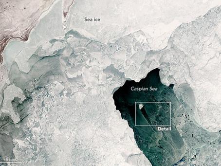Исследования каспийских льдов. П.И.Бухарицин
