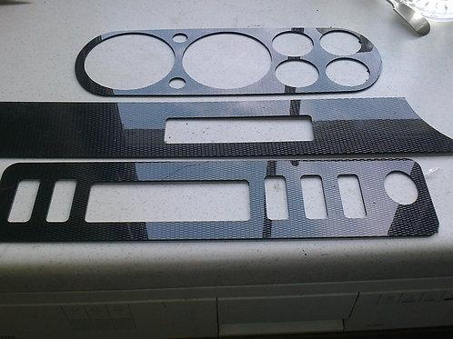 Mk 1 Escort 6 Dial Dash 'Carbon Effect' - ABS Plastic 3 Piece Kit