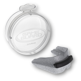 Silver Double Mouth Guard suitable for Boxing, Karate, MMA