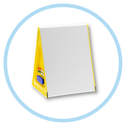 Assembly A3 Wedge Whiteboard in yellow