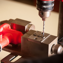 Secondary Operation - Drilling holes in moulded component