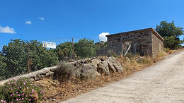 Eressos Lesvos for sale even and buildable in the area of Psinia