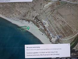 Tsichliοntas beach Eressos Lesvos plot by the sea for sale