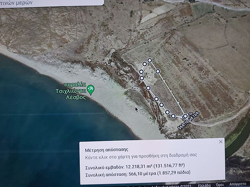 Tsichliοntas beach Eressos Lesvos plot by the sea for sale