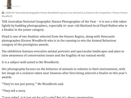 Newcastle Herald - Australian Geographic Nature Photographer of the Year