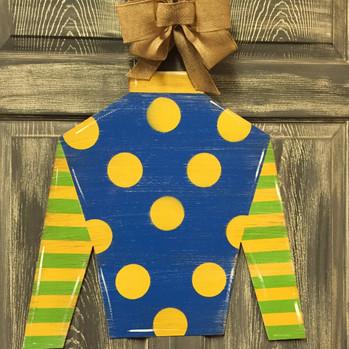 Jockey Silk Door Hanger