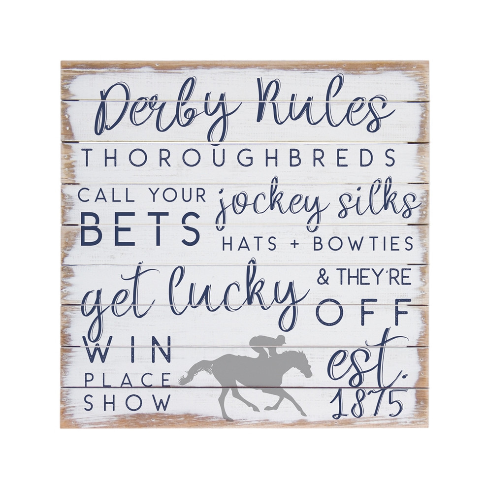 Derby Rules Palette Sign