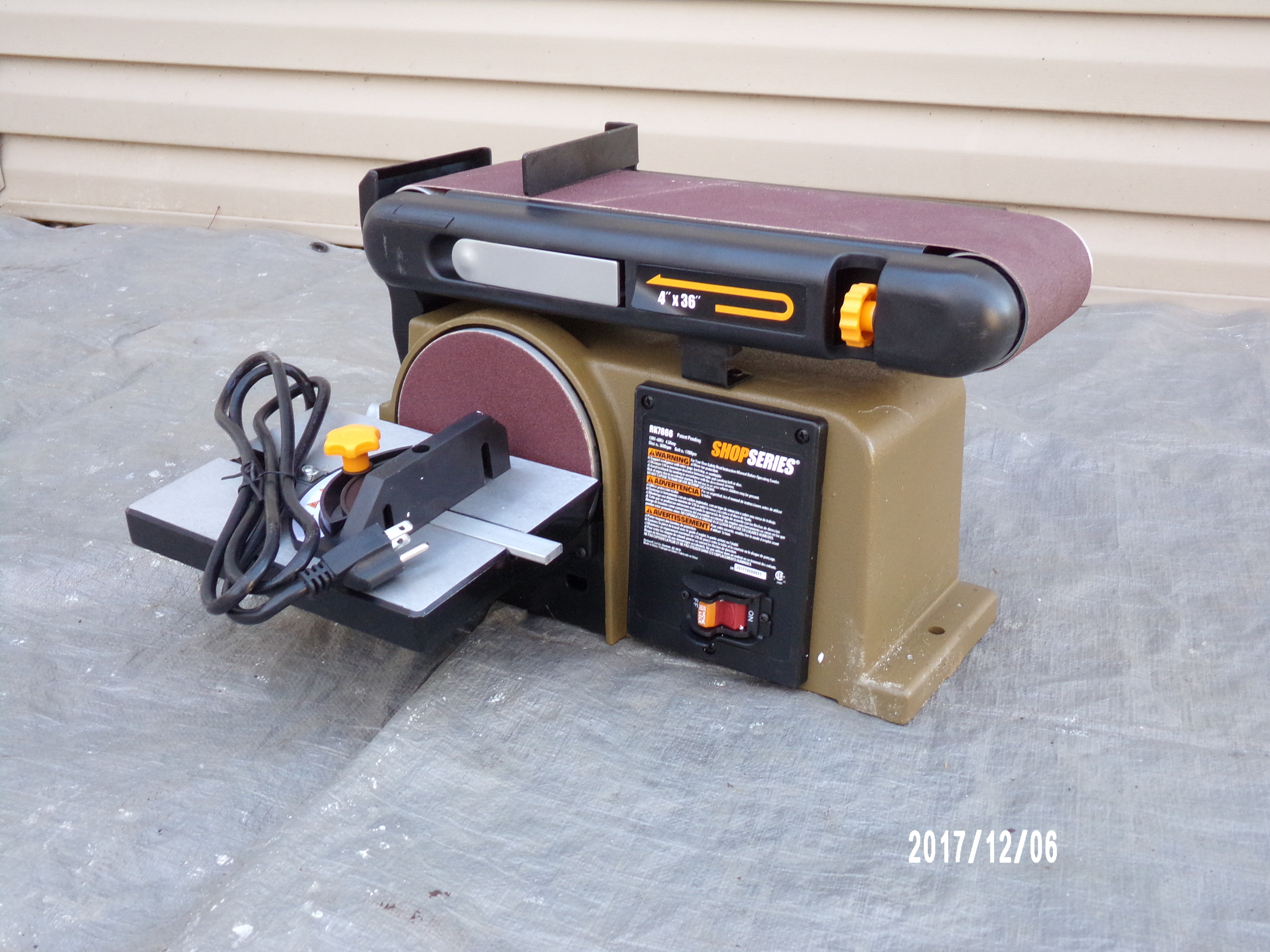 SHOPSERIES BELT-AND-DISC SANDER