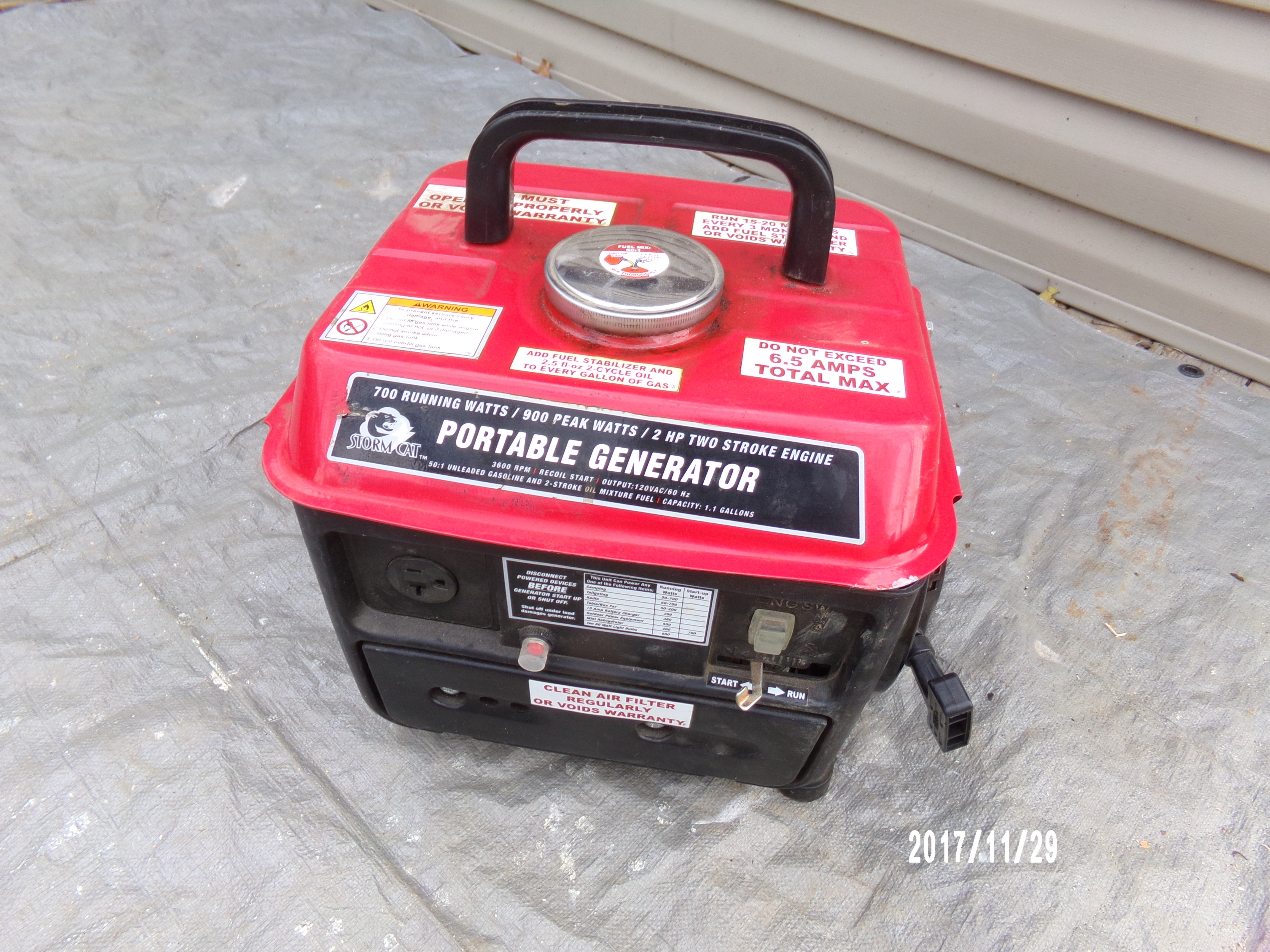 PORTABLE GENERATOR (HARBOR FREIGHT)