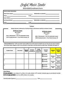 Joyful Music Studio Enrollment Form