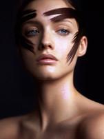 makeup hair glitter
