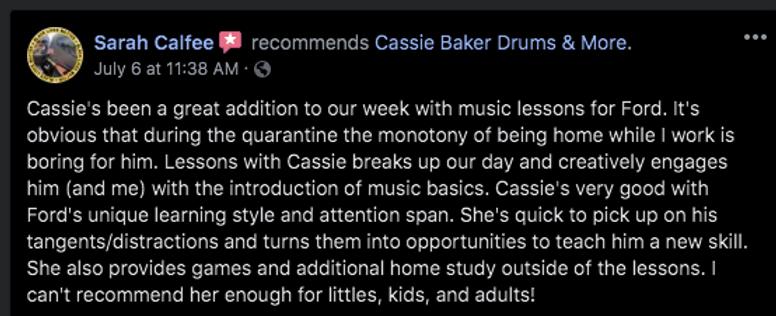 kids music instructor