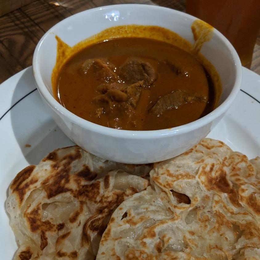 Roti Canai with Mutton Kari