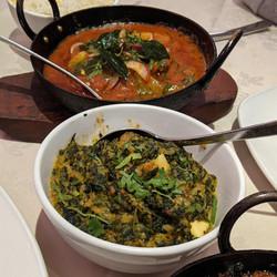 Kerala Fish Curry & Saag Paneer