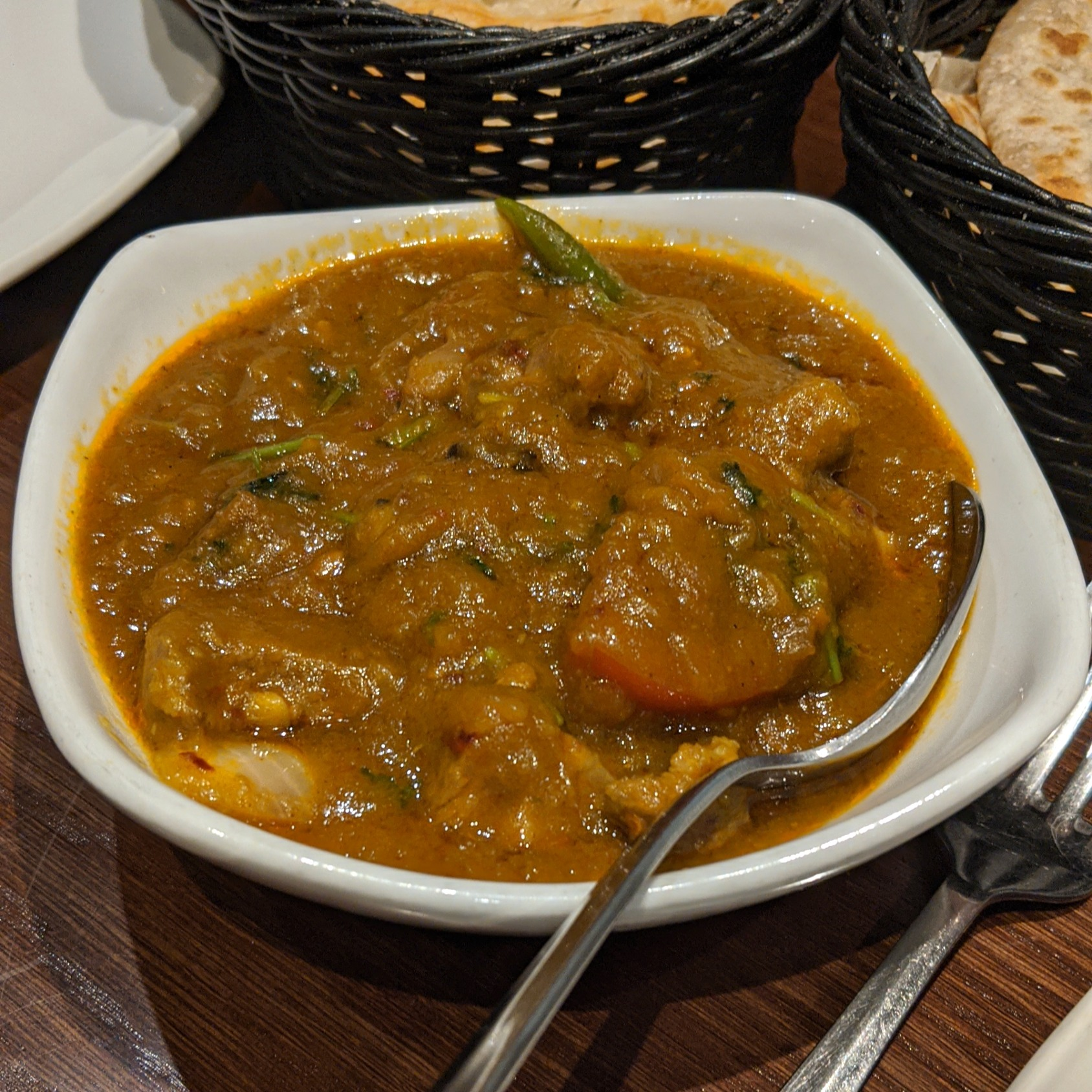 Green Lamb Curry
