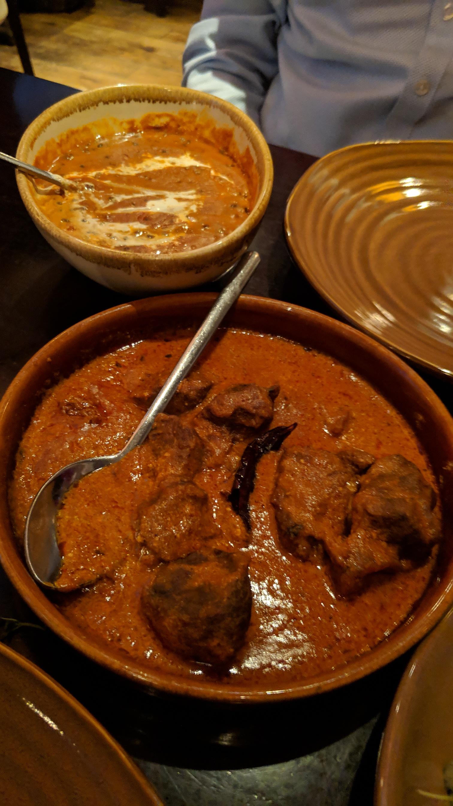 Parsi lamb and dal makhani