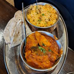 Bombay Alloo, Chapati & Biryani