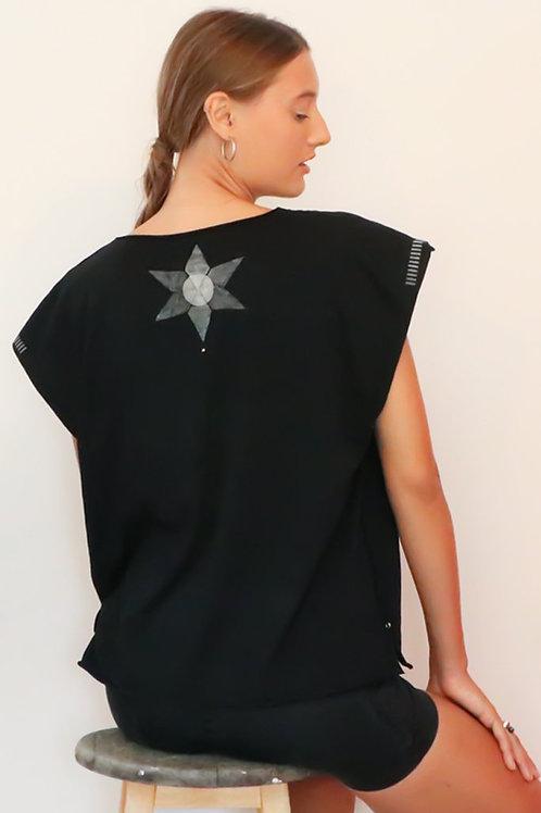 Kaftan style Black printed top