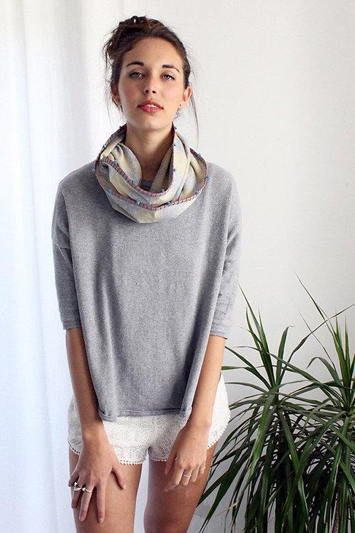 Handmade checkered infinity scarf