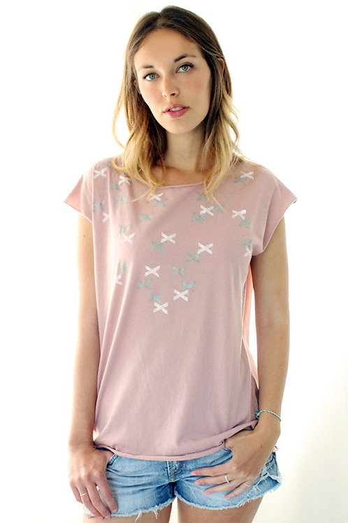 XXX printed Powder pink shirt