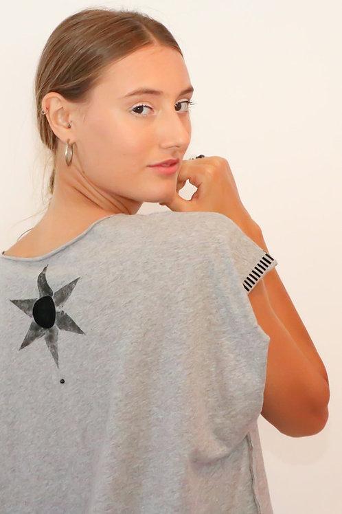Kaftan style Grey printed top
