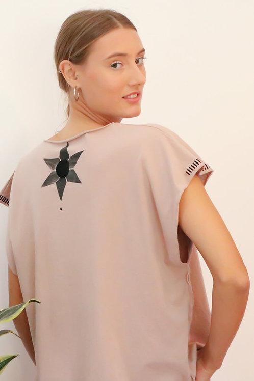 Kaftan style Pink printed top