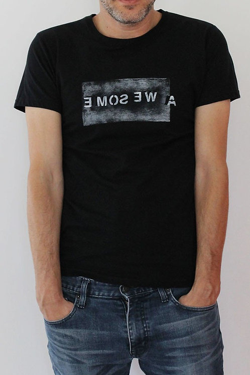 AWESOME Printed Black men's T