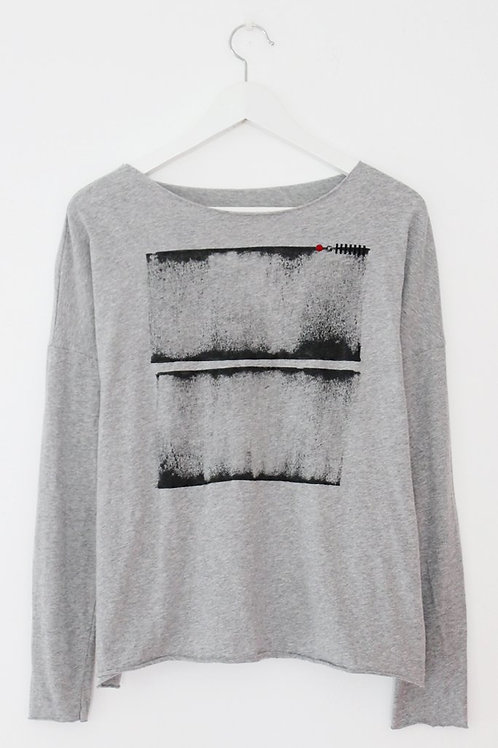 Grey T-shirt with abstract Print