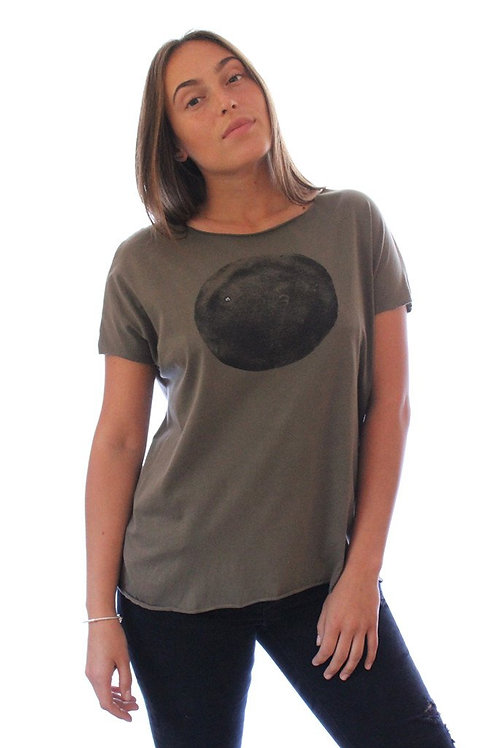Black moon printed Olive shirt