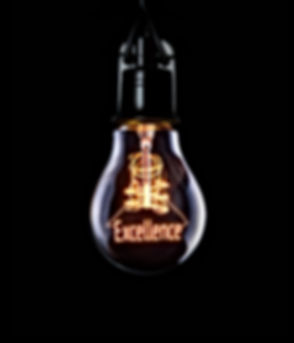 Hanging lightbulb with glowing Excellence concept.jpg