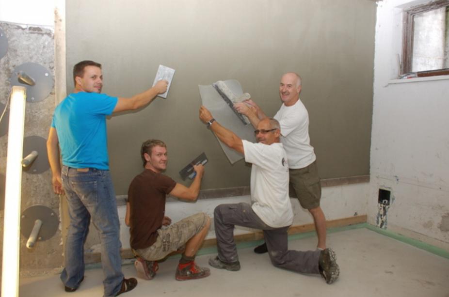 Renovierungsarbeiten - Putztrupp