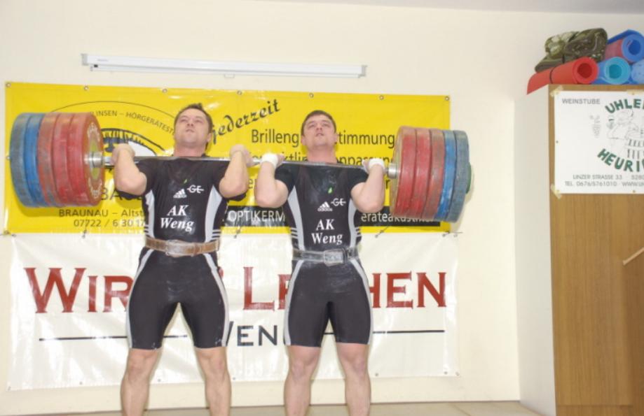 Andi & Martin beim Duostemmen 258kg
