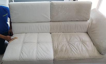 limpieza de muebles en piel.