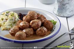 Chicken Meatballs with potato salad