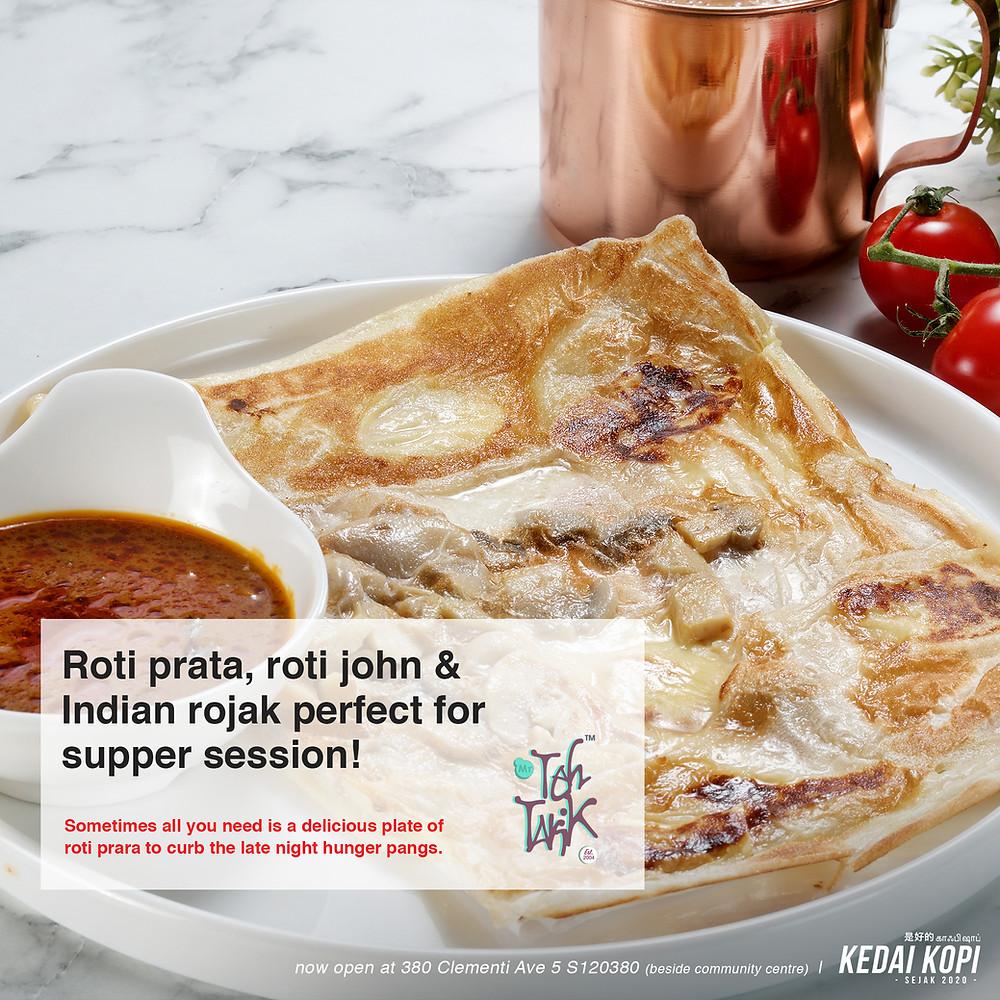 Roti Prata | Nasi Briyani | Roti John | Indian Rojak | Supper Spot Singapore West | Mr Teh Tarik | Kedai Kopi | Kedai Kopi Singapore | Tenderfresh | Kimly Coffeeshop | Halal Coffeeshop | Halal Cafe | Singapore | Clementi