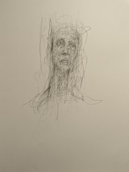 Inner Human (Study No 1) 2020 Pencil on paper, 30 x 22 ins