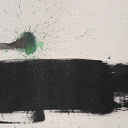 Untitled (Study in black & green No 1), 2015 Acrylic on paper, 22 x 29 ins