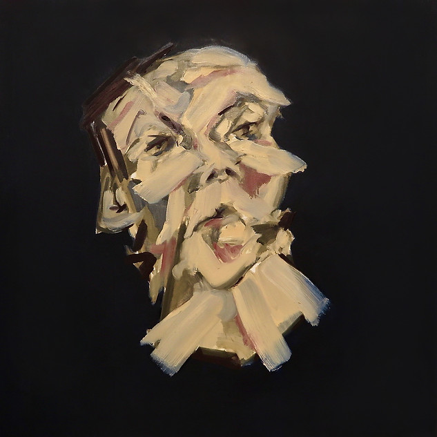 Head, space 2, 2020 Oil on canvas 40 x 40 ins