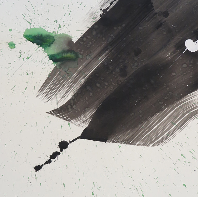 Untitled (Study in black & green No 3), 2015 Acrylic on paper, 29 x 22 ins Limited Edition of 50 signed lithographs