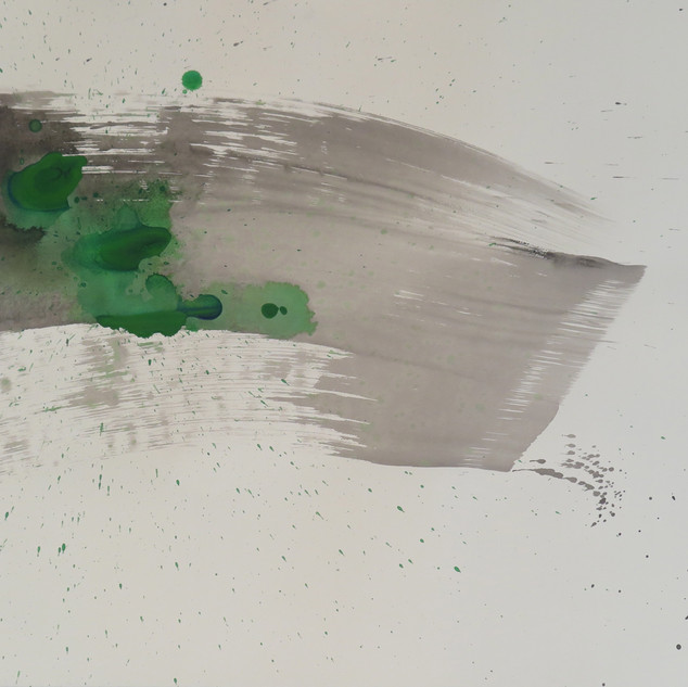 Untitled (Study in black & green No 7), 2015 Acrylic on paper, 22 x 29 ins