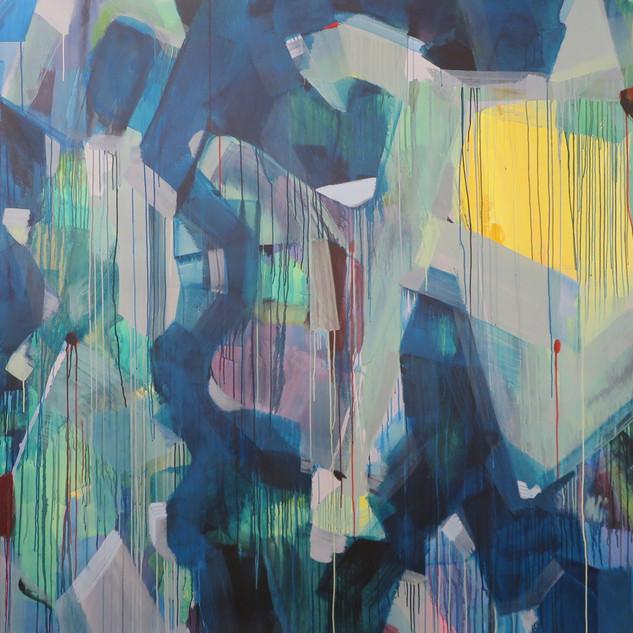 Uninhabitable Land, 2015 Acrylic on canvas, 76 x 120 ins