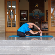 Twisted Knee to Forehead pose