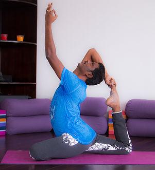 Kasi in a Yoga Pose
