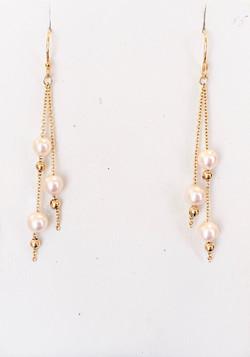 Japanese Akoya 3 Pearl earrings