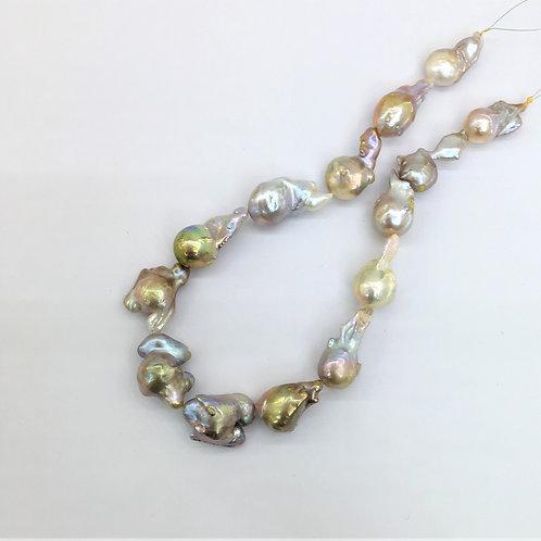 Large Bronze Baroque Pearl strand