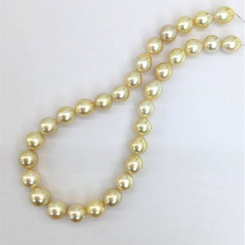 Champagne South Sea Pearl necklace
