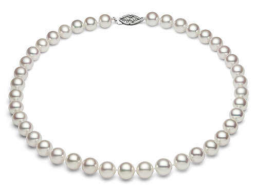 """Premier Japanese Akoya Pearl necklace, AAA, up to 35""""  (SJ-91W)"""